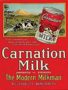 Carnation Milk Advert steel sign 300mm x 230mm (ogu)